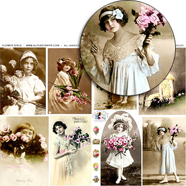 Flower Girls Collage Sheet