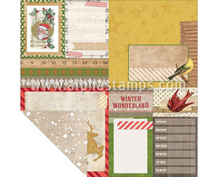 Christmas Collage Scrapbook Paper - Flurry