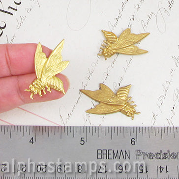 Large Brass Flying Bees