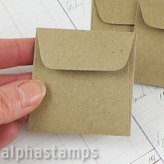 Tiny Square Kraft Envelopes*