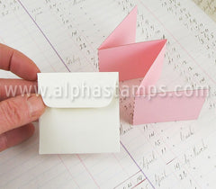 Tiny Square Cream Envelopes*