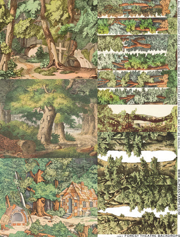 Forest Theatre Backdrops Collage Sheet