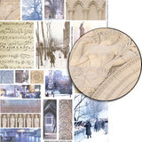 French Backgrounds - Winter Collage Sheet