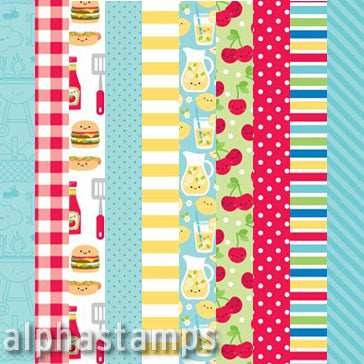 Summer Fruit Stand 12x12 Paper Set*