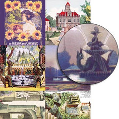 Garden Fountains Collage Sheet