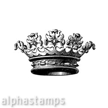 Giant Crown Rubber Stamp