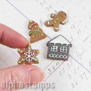 Gingerbread Cookie Resin Cabs Mix