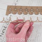 Scalloped Gingerbread Trim Strips