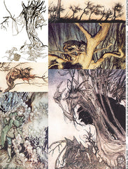 Goblin Trees Collage Sheet