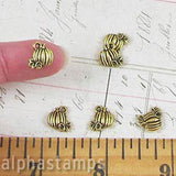 10mm Antique Gold Pumpkin Charms