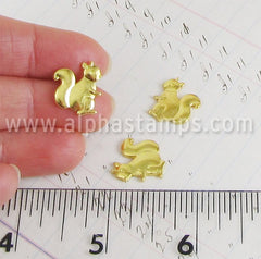 Gold Squirrel Charm