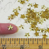 Flat-Back Gold Star Studs - 8mm