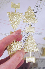 Gold Dresden Christmas Trees - OUT OF STOCK