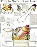 Goosey, Goosey Gander Paper Toy Collage Sheet
