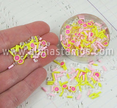 Grapefruit Ice Summer Polymer Clay Slice Mix*