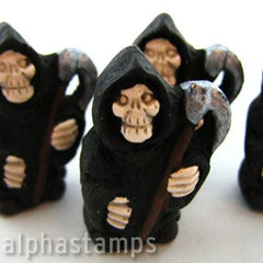 Large Ceramic Grim Reaper Bead