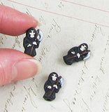 Small Ceramic Grim Reaper Bead