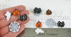 Things that Go Boo Mini Halloween Buttons Set*