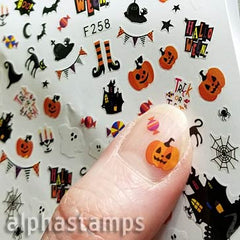 Haunted House Tiny Color Halloween Stickers