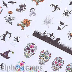 Set of Tiny Halloween Icon Decals
