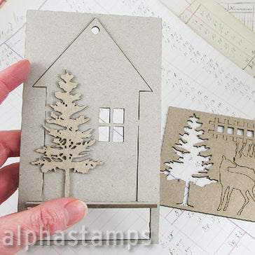 Hanging House Ornament Set