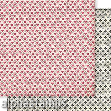 Hearts & Clubs Card Suits Scrapbook Paper