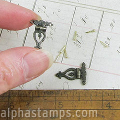 Pair of Fancy Mini Hinges w Pins