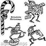 Holiday Brownies Rubber Stamp Set