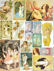 Holiday Angels Collage Sheet