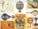 Hot Air Balloons Collage Sheet