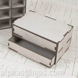 4 Inch Wide Chest of Drawers - 2 Drawers