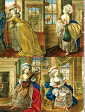 Indoor Fashions of the 1780s Collage Sheet