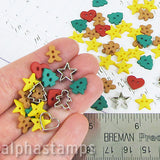 Itty Bitty Christmas Cookies Buttons Set