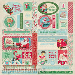 Jingle Die-Cut Cardstock Elements