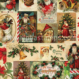 Vintage Christmas Jolly Holidays Scrapbook Paper