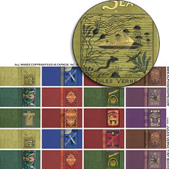 Jules Verne Tiny Books Half Sheet