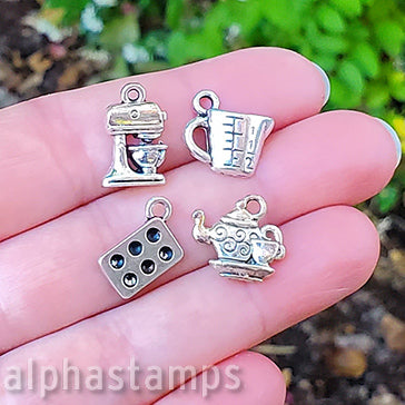 Silver Kitchen Charm Set