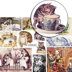 Kitty Cat Tea Party Collage Sheet