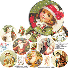 Large Xmas Tins - Half Sheet