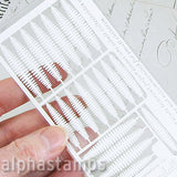Dollhouse Laser-Cut Boston Fern Leaves - OUT OF STOCK
