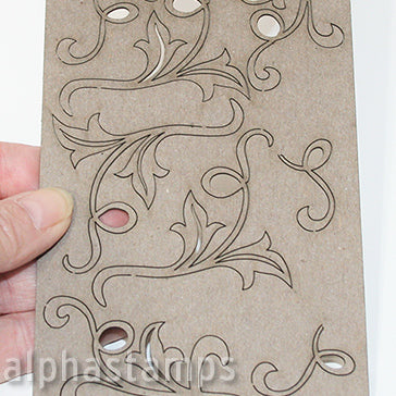 Mini Leafy Chipboard Flourishes