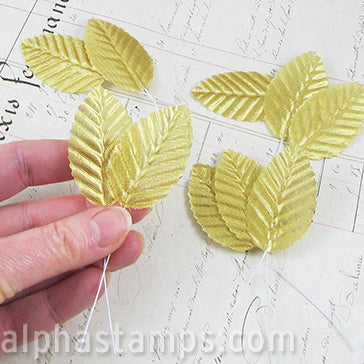 Wired Gold Leaves*