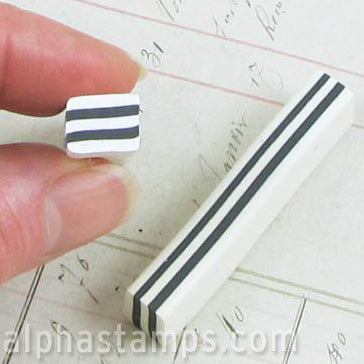Polymer Clay Large Black & White Square Cane*