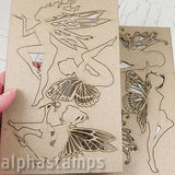 Chipboard Fairies Set - Large