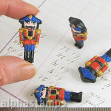 Large Ceramic Nutcracker Soldier Bead