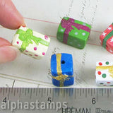 Larger Ceramic Christmas Present Bead