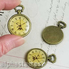 1 Inch Wide Paris Pocket Watch Pendant