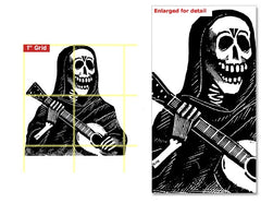 Posada Guitar Rubber Stamp*