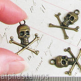 Large Skull and Crossbones Charm