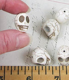 Large White Turquoise Skull Beads